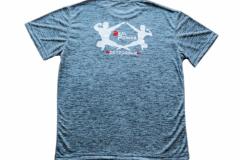 Shirt-Männer-Back-Blau-Meliert
