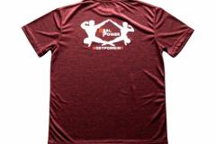 Shirt-Männer-Back-Rot-Meliert