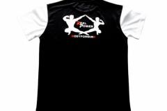 Shirt-Männer-Back-Schwarz