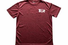 Shirt-Männer-Front-Rot-Meliert