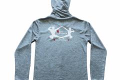 Zipper-Unisex-Back-Grau-Meliert