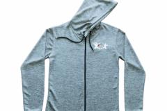 Zipper-Unisex-Front-Grau-Meliert